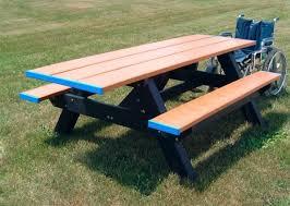 plastic rectangular outdoor table 8 ft double end ada rectangular recycled plastic picnic table