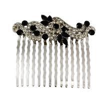 vintage comb vintage jet hair comb hair accessories glitzy secrets