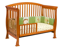 Crib Convertible To Toddler Bed by Davinci Thompson 4 In 1 Convertible Crib In Oak W Toddler Rails