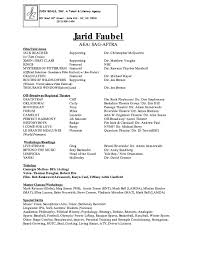 How To Make A Theatre Resume Acting Resume Special Skills Free Resume Example And Writing
