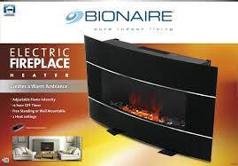 amazon com bionaire electric fireplace heater with adjustable