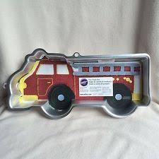 firetruck cake wilton truck cake pan 2002 with insert directions ebay