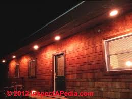 outdoor soffit recessed lighting with exterior installation