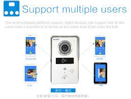 shenzhen factory actop wifi video doorphone with basic wiring