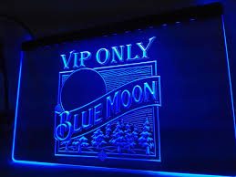 la806 vip only blue moon beer led neon light sign home decor