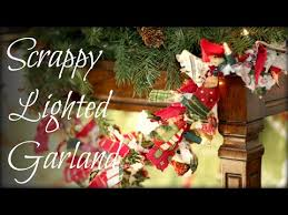 lighted christmas tree garland diy christmas scrappy lighted garland tutorial youtube
