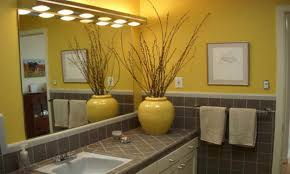 yellow bathroom walls yellow and gray bathroom ideas blue and