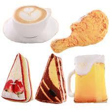simulation 3d cuisine 3d simulation food shape plush pillow cake coffee plush toys