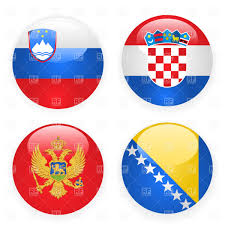 Flag Of Bosnia Slovenia Montenegro Croatia And Bosnia And Herzegovina Button