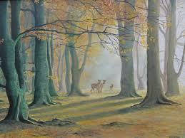 deer in autumn woods gallery of by daniele mandelli surrey