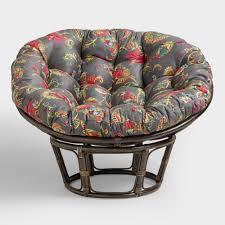bunch ideas of papasan chair cushions stool frames excellent bowl chair cushion