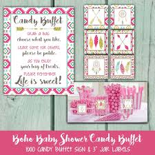 Baby Shower Candy Buffet Sign by 1950 U0027s Birthday Party Candy Buffet Sign Candy Jar Labels 50 U0027s