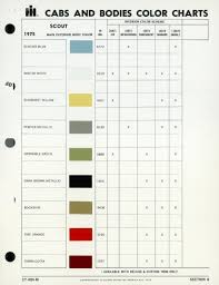 international harvester scout paint chart historical object