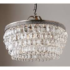 pottery barn ceiling lights pottery barn clarissa crystal drop round chandelier 999 liked