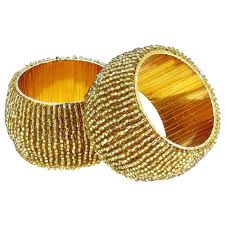 artist haat table decoration beads napkin rings set of 4 home
