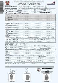 formato de acta de nacimiento en blanco gratis ensayos gerencia de registros civiles