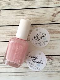 nail polish favor tags for baby shower or bridal shower mani