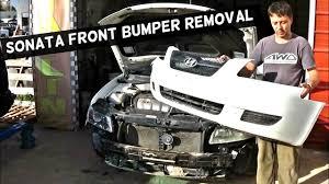 2011 hyundai sonata front bumper hyundai sonata front bumper cover removal replacement