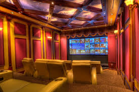 home movie theater decor home theatre fancy home theater decorating ideas in yellow red