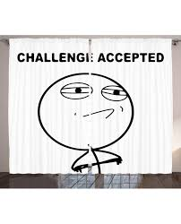 Challenge Excepted Meme - curtain challenge accepted meme print 2 panel window drapes