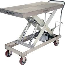 stainless steel scissor lift carts