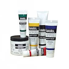 professional heavy body acrylic paint transparent mixing white 2