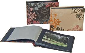 Designer Photo Albums Cosenza 7x5 Designer Photo Albums Black Pages