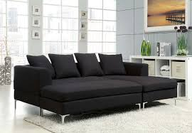 Fabric Sectional Sofas With Chaise Homelegance Zola Sectional Sofa Set Black Linen Like Fabric
