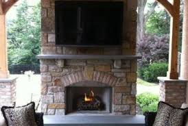 outside fireplace design ideas outdoor fireplace attached lescatole