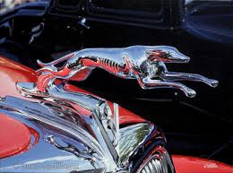 1930s ford greyhound ornament on the ford
