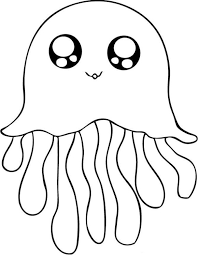 cute jellyfish coloring pages animal coloring pages of