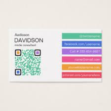 Social Network Business Card Social Media Consultant Business Cards U0026 Templates Zazzle