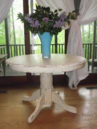 Pedestal Kitchen Table by Serendipity Chic Design Before And After Shabby Chic Pedestal
