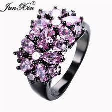aliexpress buy junxin new arrival black aliexpress buy junxin pink black gold filled cz ring unique