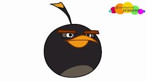draw black bird bomb angry birds