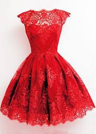 red cap sleeve lace skater dress on sale only us 25 46 now buy