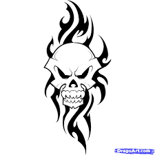 how to draw a tribal skull step by step tribal art pop culture