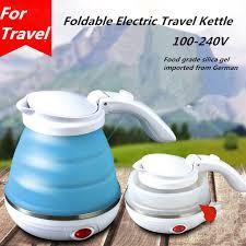 100 240v mini foldable travel kettle electric portable water