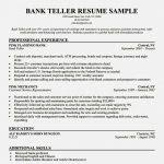 Bank Teller Resume Templates No Experience Amazing Bank Teller Resume Objective With No Experience U2013 Resume