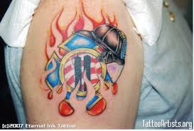 fire maltese cross tattoo