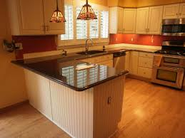 red brown color of cabinettry in modern home u shaped kitchens