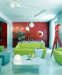 Modern Living Room Design  Bright Contrasting Colors Interior - Bright colors living room