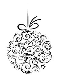 ornament black and white tree ornament clipart
