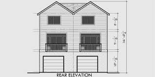 Duplex House Plans For Narrow Lots Duplex House Plans Rear Garage House Plans D 518