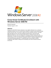 ad cs cross forest active directory public key certificate