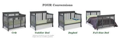 when to convert from crib to toddler bed amazon com stork craft tuscany 4 in 1 convertible crib gray baby