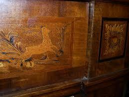 Antique German Display Cabinet Inlaid German Open Bookcase Antique Furniture
