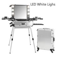 professional makeup lighting portable 6 types makeup artist box with lights station trolley studio