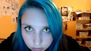 yellow contact lenses halloween lunatic yellow cat contact lenses youtube