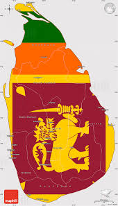 Map Of Sri Lanka Flag Simple Map Of Sri Lanka Flag Rotated